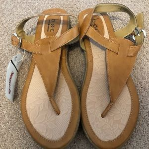 NWT B.O.C by Born Comfort Leather Sandals